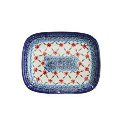 폴란드그릇 아티스티나 라운드직사각접시 소 패턴1494