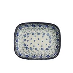폴란드그릇 아티스티나 라운드직사각접시 소 패턴2158