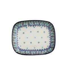 폴란드그릇 아티스티나 라운드직사각접시 소 패턴2250