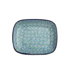 폴란드그릇 아티스티나 라운드직사각접시 소 패턴2252
