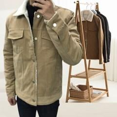 가을 남자 남성 루즈핏 뽀글이 양털 두꺼운 면 무스탕 자켓