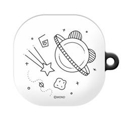 몬드몬드 큐티 우주 갤럭시 버즈 라이브 케이스/하드 커버