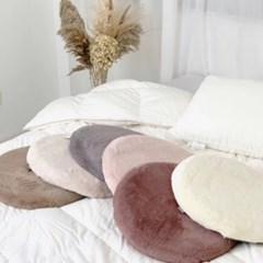 따뜻한 인조 털 극세사 메모리폼 사무실 의자 겨울 원형 방석 5color