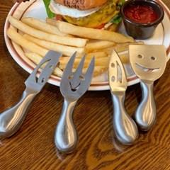 치즈 나이프 4P 치즈 미니 칼 세트 버터나이프