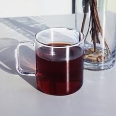[티스카페] 스퀘어 글라스 (내열유리컵_무인쇄 제품)