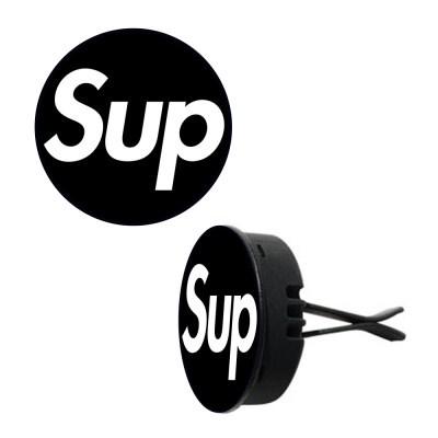 토디토 자동차디퓨저-빅 슈프림 블랙&화이트 로고(원형)