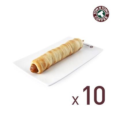 탐앤탐스 도그 프레즐-야채맛 10개입 (아이스패킹 비용)