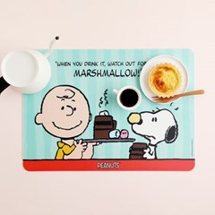 피너츠 스누피 마시멜로우 테이블매트 대형 1P