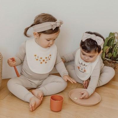 [쿵스쿵스] 오가닉턱받이 아기 턱받이 신생아 침받이