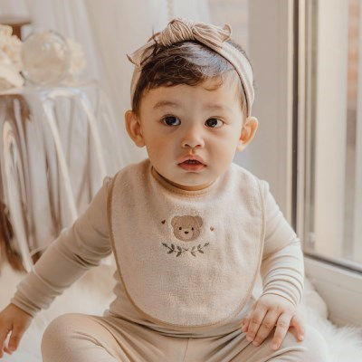 [쿵스쿵스] 밤부턱받이 아기 턱받이 신생아 침받이