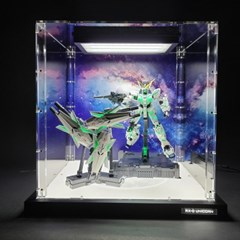 MGEX 유니콘 건담 전용 장식장 케이스(LED조명 / 배경지형)