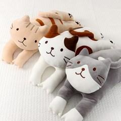 잠자는 고양이 낮잠 베개