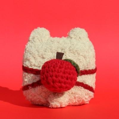 [1+1]레이지띵 사과백팩 베어띵 뜨개 에어팟 프로 케이스