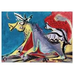 패브릭 포스터 추상화 동물 말 그림 액자 잭슨 폴락 18