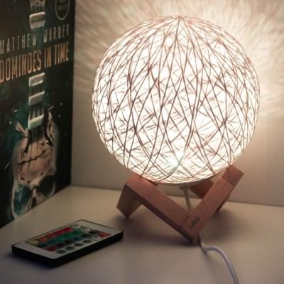 레토 16색 LED 입체 감성 라탄 무드등 스탠드 조명 LML-RM21