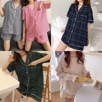 [1+1]LAZYTHING cherry/check pajama_(308320)