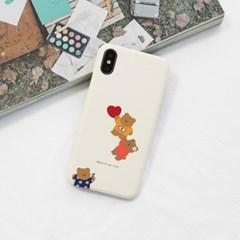 하트붙잡곰(크림) 277 아이폰/LG
