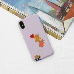 하트붙잡곰(퍼플그레이) 276 아이폰/LG