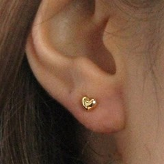 [Silver925] LU62 Simple heart earrings