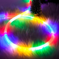 LED 네온360° 50m 칼라 (전원코드포함) 전구 TRDELB
