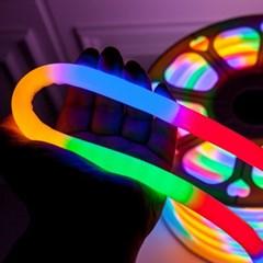 LED 네온360° 10m 칼라 (전원코드포함) 전구 TRDELB
