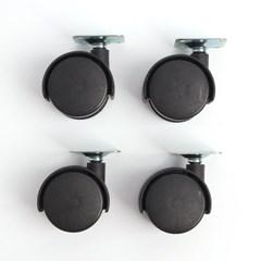 영달철물 회전 이동식 바퀴 4p/ 책상서랍바퀴 캐스터