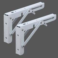 영달철물 벽고정 접이식 선반대 2p(화이트)/ 벽받침대