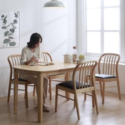 핀치 원목 4인 식탁세트 540 의자형 2colors