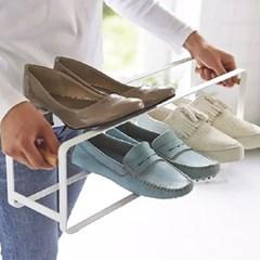 화이트 메탈 스태커블 신발장