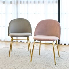 벨로 골드 벨벳 체어 인테리어 식탁 카페 의자_(1566790)