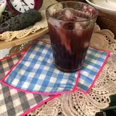 깅엄체크 컵받침 (2컬러)