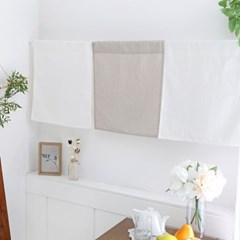 메리 체크 피스 창문,주방 바란스/가리개 커튼 1장 -3color