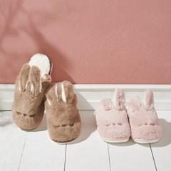 토끼 겨울 거실화 포근한 거실 사무실 털슬리퍼