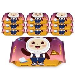 [21년 리뉴얼] 달곰이 아기물티슈 유니버스 10팩 (72매 / 캡형)