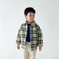 디) 체크 아동 셔킷자켓