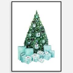 크리스마스 그림 액자 인테리어 장식 선물 패브릭 소품_트리
