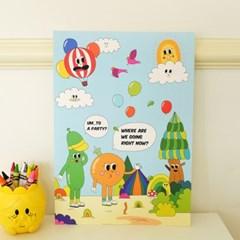 벌룬프렌즈 A4 포스터 - 우리 어디가? 파티!