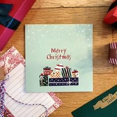 [기쁜선물] 크리스마스 고급카드+스티커포함
