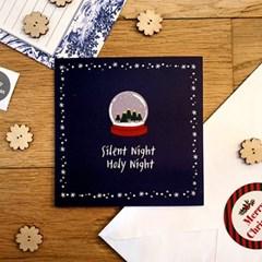 [스노우볼] 크리스마스 고급카드+스티커포함