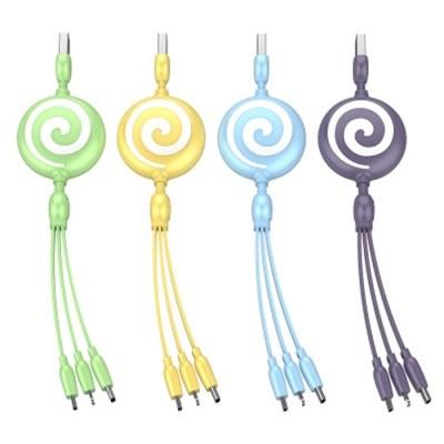라이프프라임 롤리팝 3in1 멀티 USB 고속 충전 케이블 마이크로 5핀