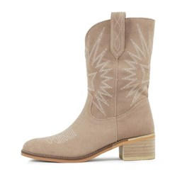 kami et muse Embroidery suede western boots_KM20w152
