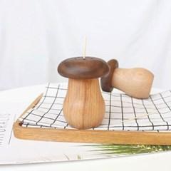 우드 버섯모양 이쑤시개통 1개