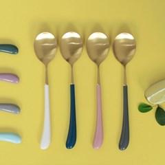 몽블랑 스완 골드 커트러리 11color - 키즈 숟가락