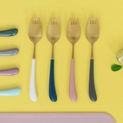 몽블랑 스완 골드 커트러리 11color - 아동용 포크