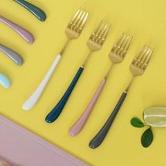 몽블랑 스완 골드 커트러리 11color - 키즈 포크