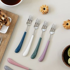 몽블랑 스완 실버 커트러리 11color - 케익포크