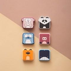 파베르 정사각형 미니 동물자석/냉장고자석/마그네틱/자석판