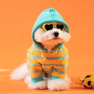 [mungmoong] 캔디봉봉 스트라이프 후드 티셔츠 (옐로우/민트)