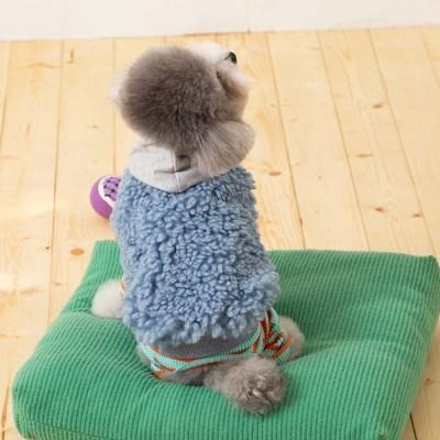 [mungmoong] 양털 보아 후드 베스트 (네이비)