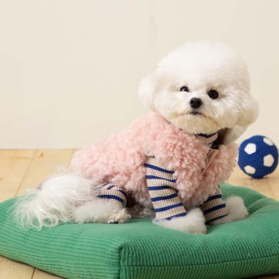 [mungmoong] 양털 보아 후드 베스트 (핑크)